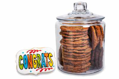 Congrats Cookie Jar