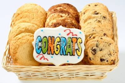 Congrats Shortbread Baskets