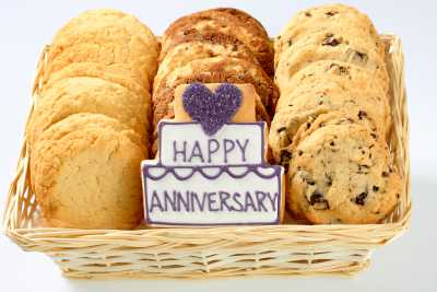 Happy Anniversary Shortbread Basket