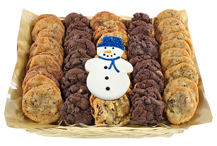 Snowman Mini Cookie Basket
