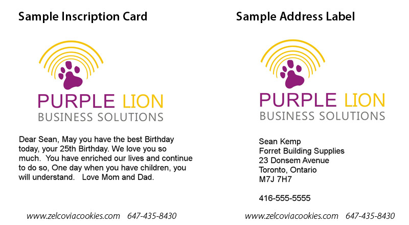 Sample Inscription Card