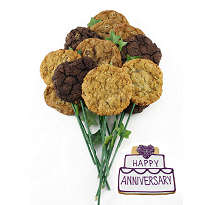 Happy Anniversary Bouquet (15 cookies and up)