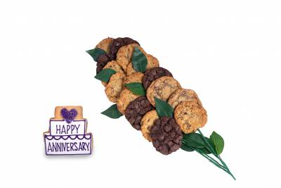 Enlarge photo of Anniversary Cookie Flower Arrangement  (15 cookies and up)