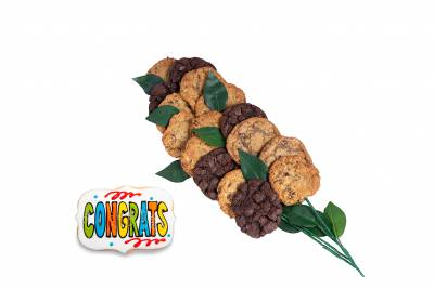Enlarge photo of Congratulations Cookie Flower Arrangement (15 cookies and up)