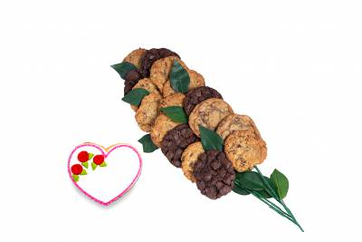 Heart Bouquet (15 cookies and up)
